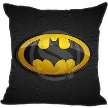 Горячая Бэтмен Логотип Подушки Детские чехол Черный Throw Наволочки Пользовательский (две стороны) Лидер продаж