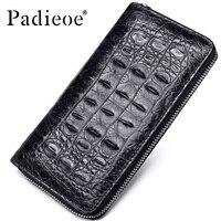 Padieoe 2018 Fashion Crocodile Pattern Coin Purses Card Holder Genuine Leather Men Long Wallets Men's Alligator Long Clutch Bags