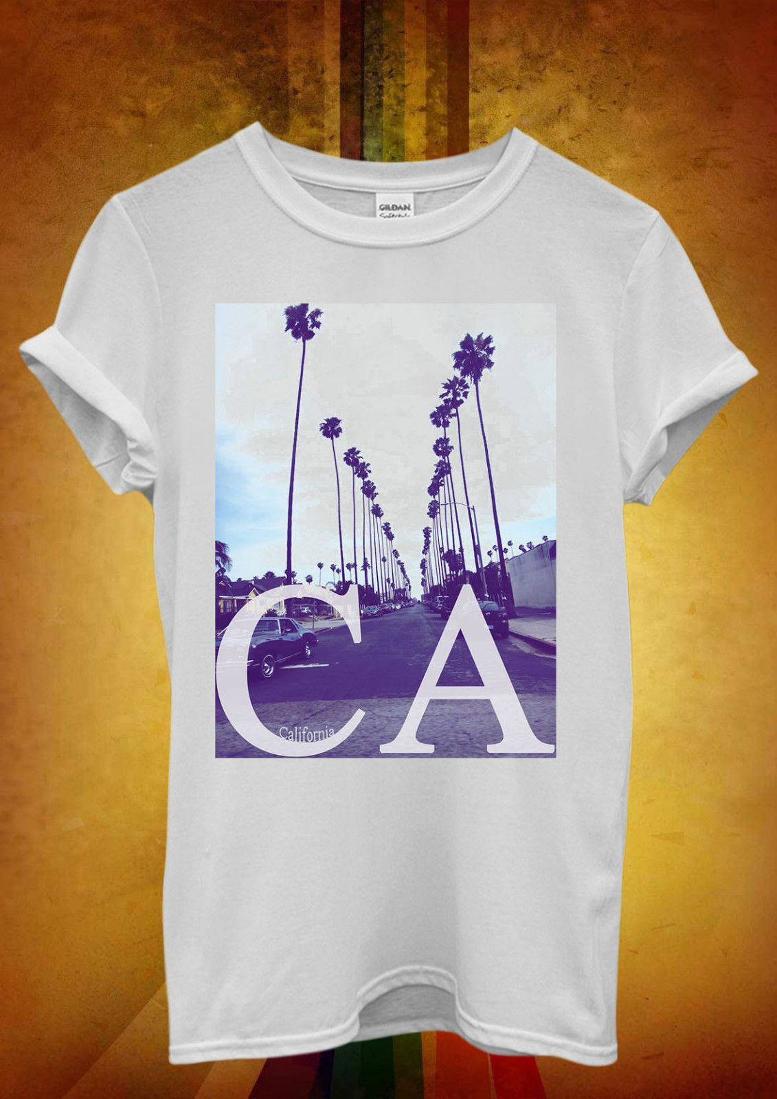 California CA Palm Springs Trees Men Women Unisex T Shirt  Top Vest 740 New T Shirts Funny Tops Tee New Unisex Funny Tops