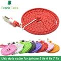 1 m/2 m/3 m colorido del usb data sync cable cargador micro usb data cable sync cable cargador cable para iphone 5 5s 6 6 Plus