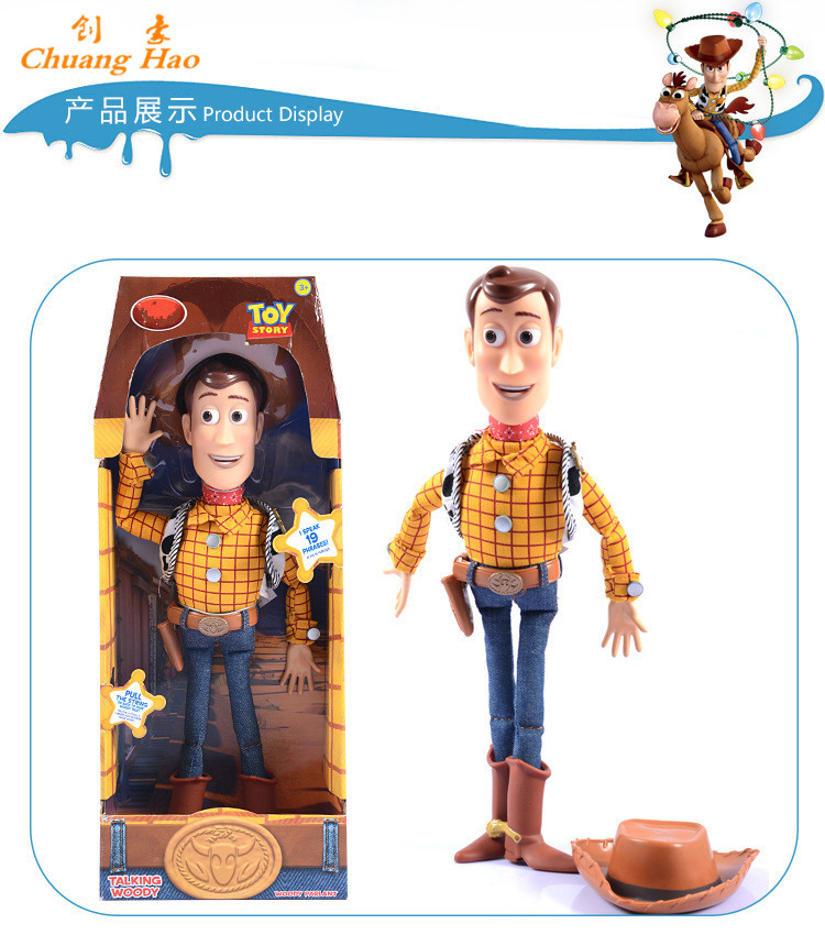 Toy story 3 talking woody pvc action figure collectible for Espejo que habla juguete