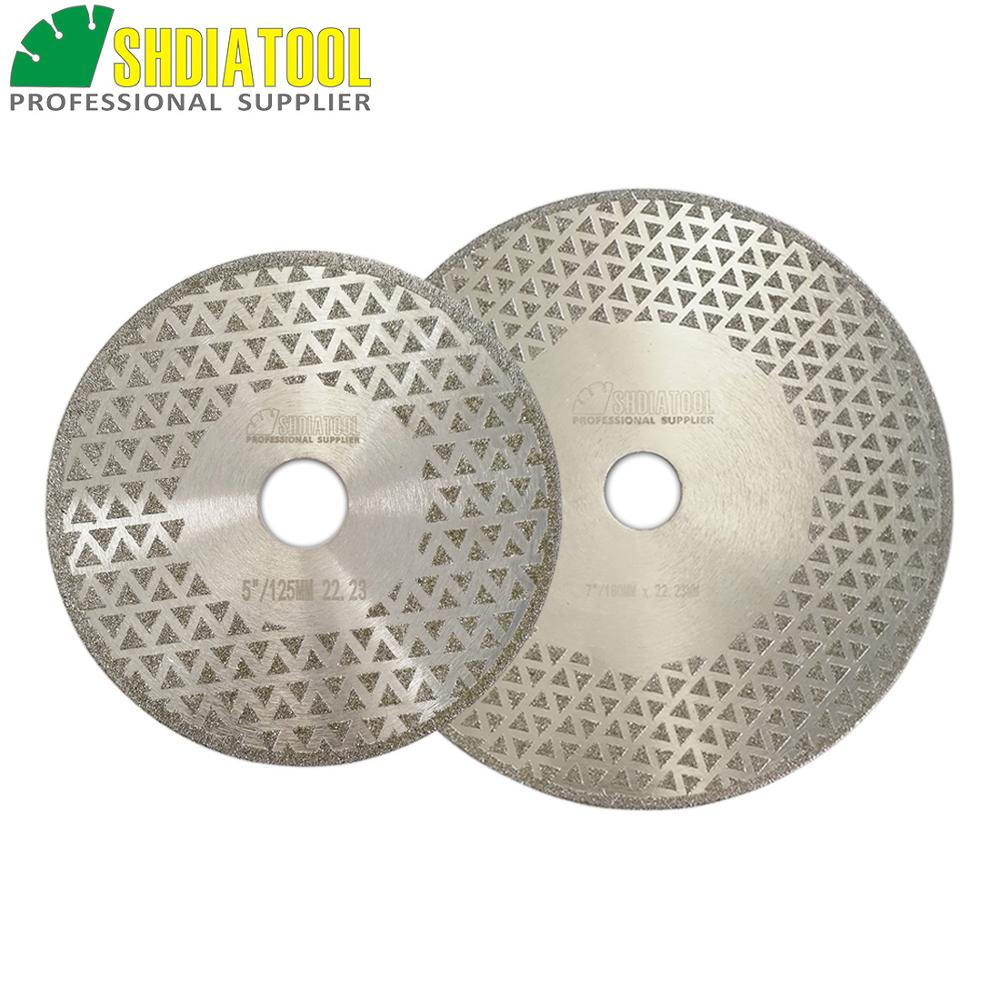 SHDIATOOL 180mm And 125mm Electroplated Diamond Cutting & Grinding Disc Bore 22.23MM Both Side Coated Sawblade Diamond Wheel