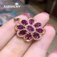 цена KJJEAXCMY Fine jewelry, Natural magnesium aluminum garnet inlaid jewelry wholesale, S925 Sterling Silver female Pendant онлайн в 2017 году