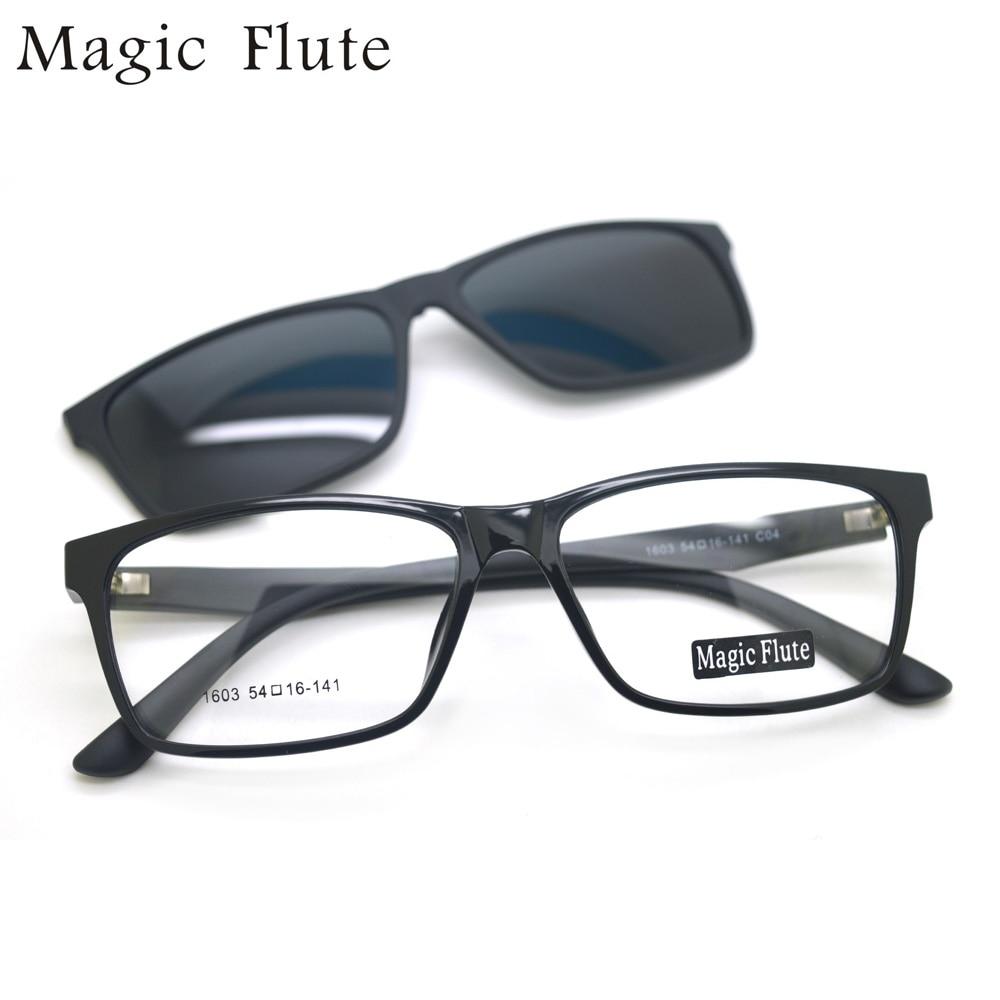 Nueva llegada TR90 sol gafas imán flexible lente polarizada marco ...