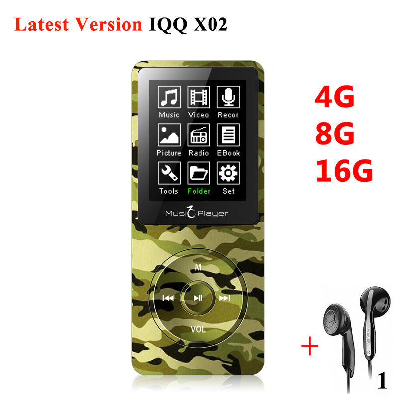 Original 1.8 MP3 Player 16GB High Sound Quality Entry-level Lossless mini Music Player with FM Radio Voice Recorder E-book IQQ