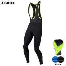 Zealtoo Spring pantalones ciclismo/Autumn Quick Dry Cycling Long Bicycle Bib Pants Gel Pad Bike Tights Mtb Men Ropa Ciclismo