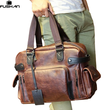 Мужская Настоящее Crazy Horse кожа дорожные сумки Роскошный стиль мужская сумка ретро большой емкости мужские сумки плеча способа Сумка