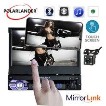 1 DIN 7-дюймовый HD меню автомобилей Радио MP5 плеер стерео радио с Камера Сенсорное Зеркало Link автомобилей Радио-Кассетный проигрыватель Авторадио  автомагнитола магнитола