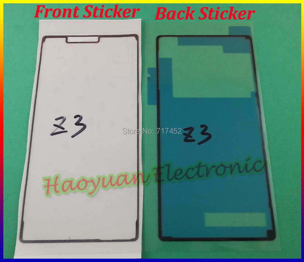 HAOYUAN.P.W Original Battery Cover Adhesive Front sticker Waterproof Tape Screen glue For Sony Xperia Z3 D6603 D6633 D6653