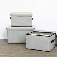 luluhut linen clothes storage box washable sundries storage container foldable underwear clothes cover box home organizer