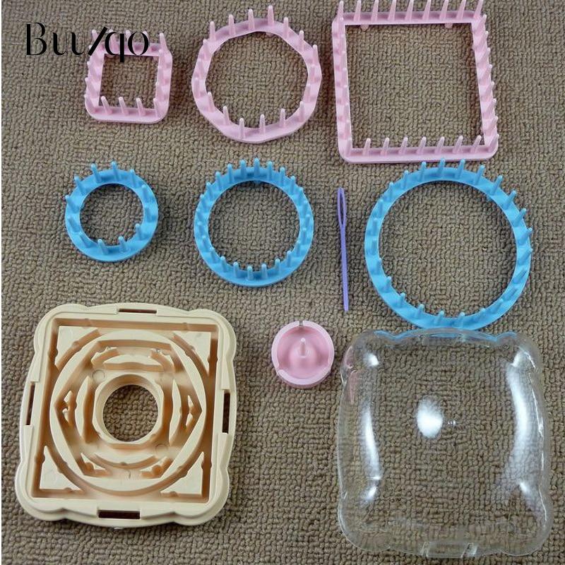 Hot Sale New 9pcs Knitting Loom Flower Pattern Maker Wool Yarn