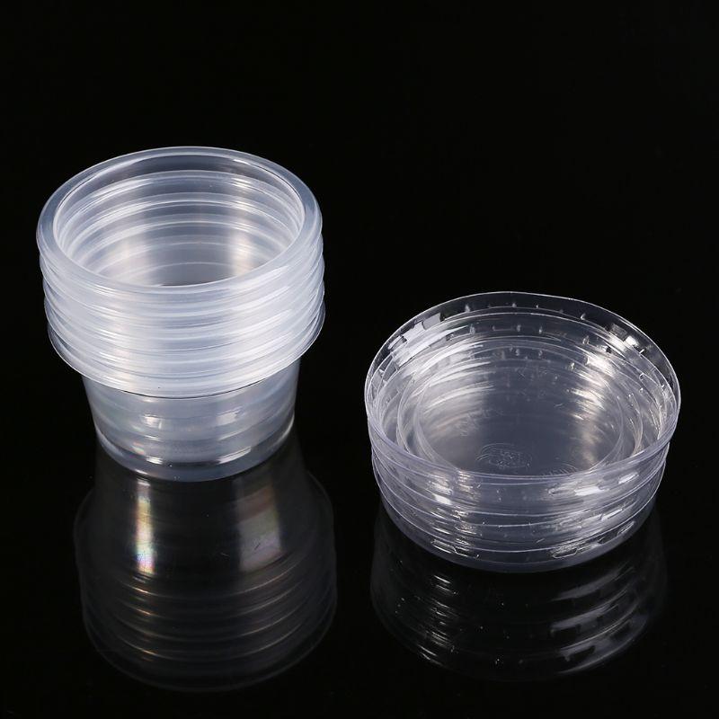 2 Styles 1oz Plastic Shot Glasses Vodka Jelly Shot Glass Sauce Pot Portion Pot