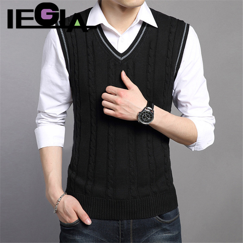 Men Sweater Winter&spring Jacket Mens Pullovers Sleeveless Knitted Gentleman Sweater Vest Male Elegant Casual Designe Sweater