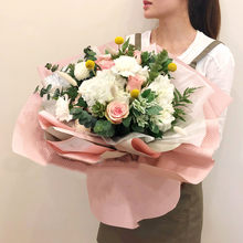 60*60cm 10pcs Flowers Three-dimensional Wrapping Paper Waterproof Embossed Bouquet Material Gift Florist Wrapping Paper(China)