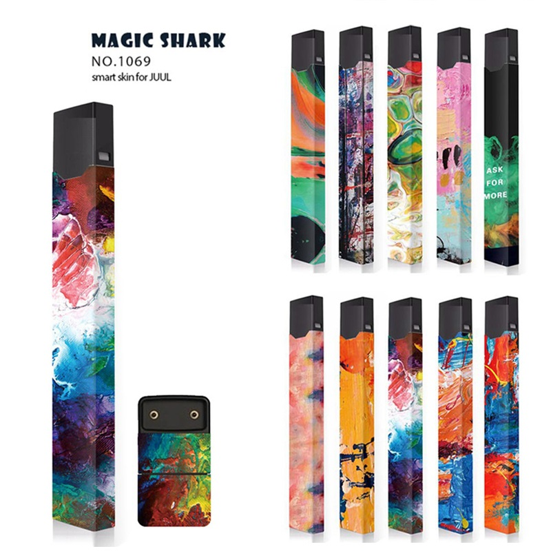 US $1 79 10% OFF|Fashion Skin Suitable For JUUL Case Colorful Painting  Pattern Protector Skin 3M Design Wrapper Vape Accessories-in Electronic