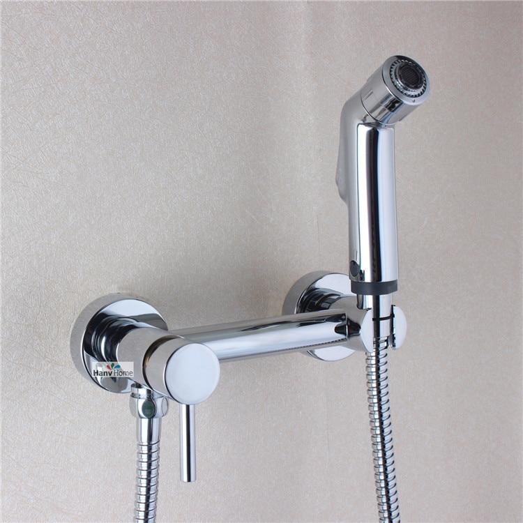 Abs Toilet Handheld Bidet Spray Shattaf Brass Hot Cold Water