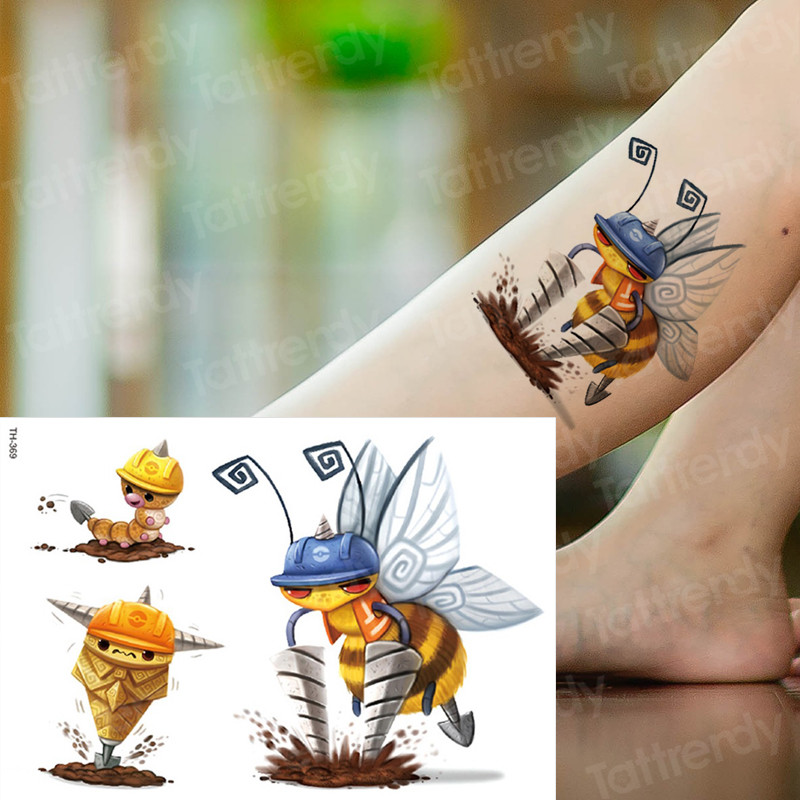 kids tattoo temporary waterproof tattoos children stickers body art horse unicorn animals tatoo water color face hand tattoo kid 4