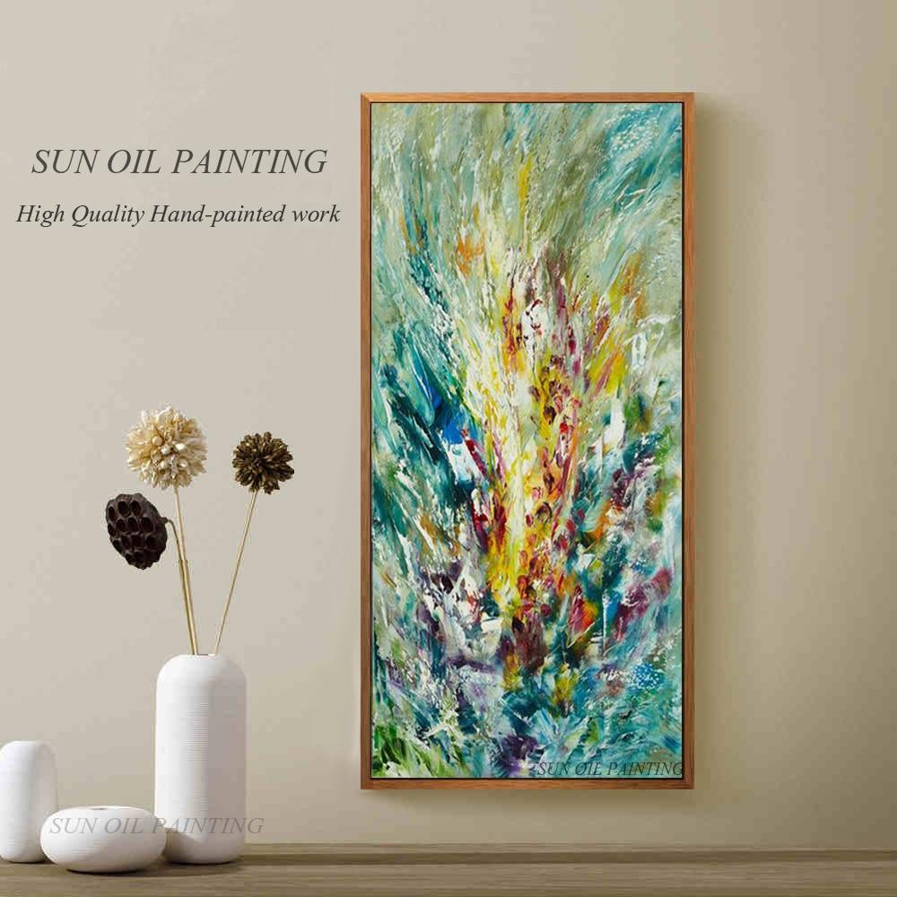 Pânză pictură abstractă Gladiolus pictură în ulei pentru - Decoratiune interioara