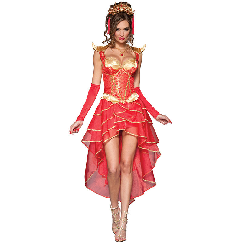 2017 New Fashion Red Cosplay Party Sexy Princess Costume -9096