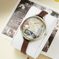 Miss Keke Fashion Antique Watches Women 3D Handmade Clay Quartz Watch Leather Casual Clock Watches Ladies Retro Wristwatch 1040
