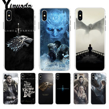 цена Yinuoda Game of Thrones Daenerys Dragon Jon Snow tyrion lannister Colorful Cute for iPhone 8 7 6 6S Plus X XS max 10 5 5S SE XR онлайн в 2017 году
