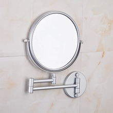 Promo offer Space aluminum telescopic hotel bathroom mirror mirror folded activities can zoom Wall sided Mirror child