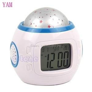 Image 2 - Sky Star Children Baby Room Night Light Projector Lamp Bedroom Music Alarm Clock S08 Wholesale&DropShip