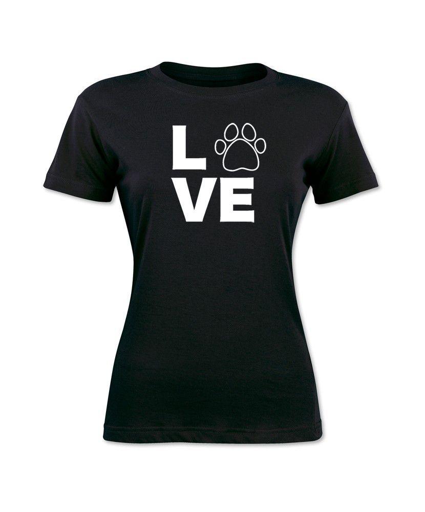 Love Dog Kitten Pet Animal Women T-Shirt Cute Graphic Tee S-XL Female Casual T Shirt Kawaii Women Tops Tees Print Cotton T Shirt