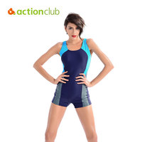 Actionclub Professional Sports Swimwear Women One Piece Traditional Swimsuit Monokini Conservative Brand Slim Bathing Suit SA232