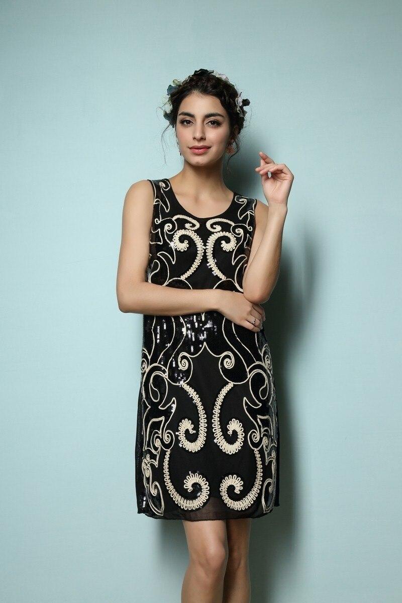 Sleeveless Vintage Tank Dress Art Deco 1920s Style Glam Flapper ...
