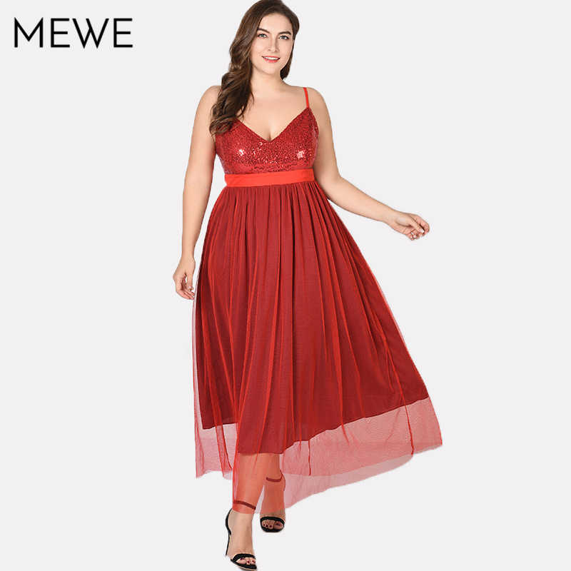 Red Strap Long Dress for Women in Evening Plus Size Sequined Lace Sexy Maxi  Dress Summer 5cefd848f54a