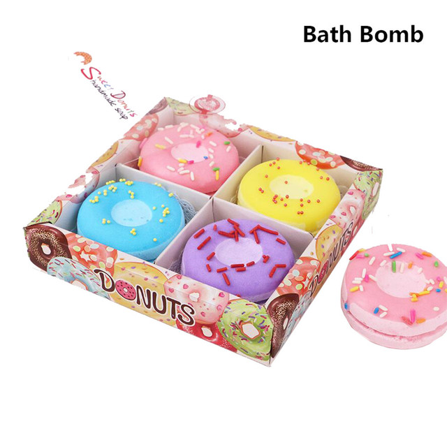 Creative Donuts Bath Bombs enjoy shower Ball Natural Sea Salt Lavender Bubble Essential Body Scrub boules de bains