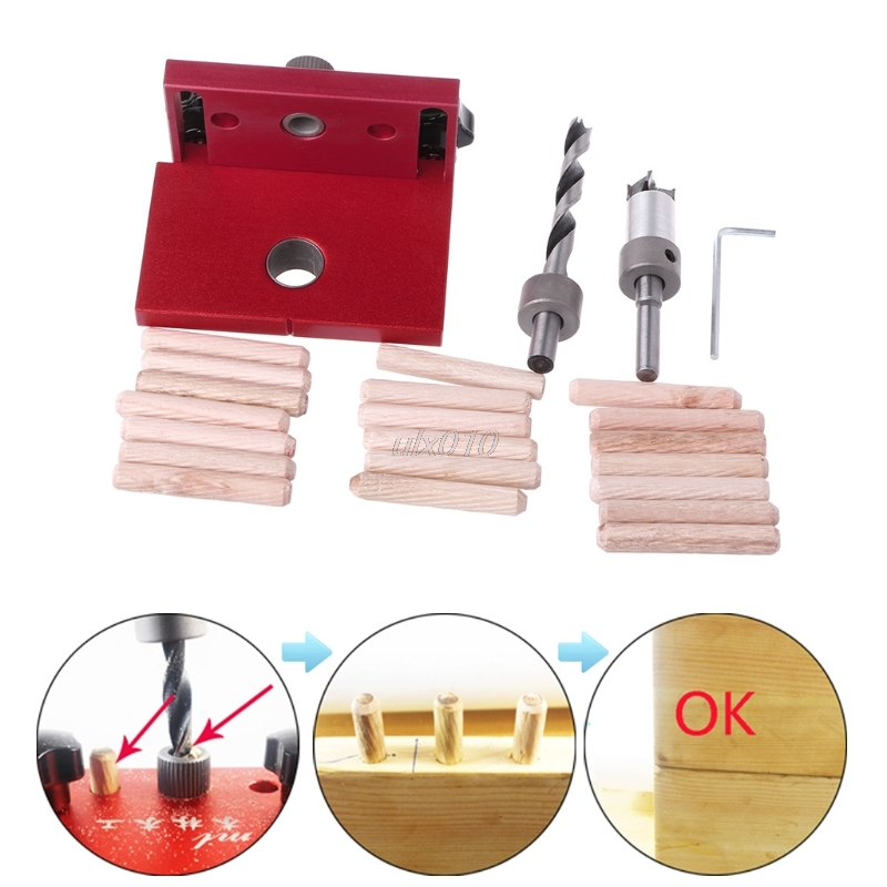 купить Woodworking Tool Drilling Locator Tenon Hole Punchers Positioning Dowelling Jig G03 Drop ship онлайн