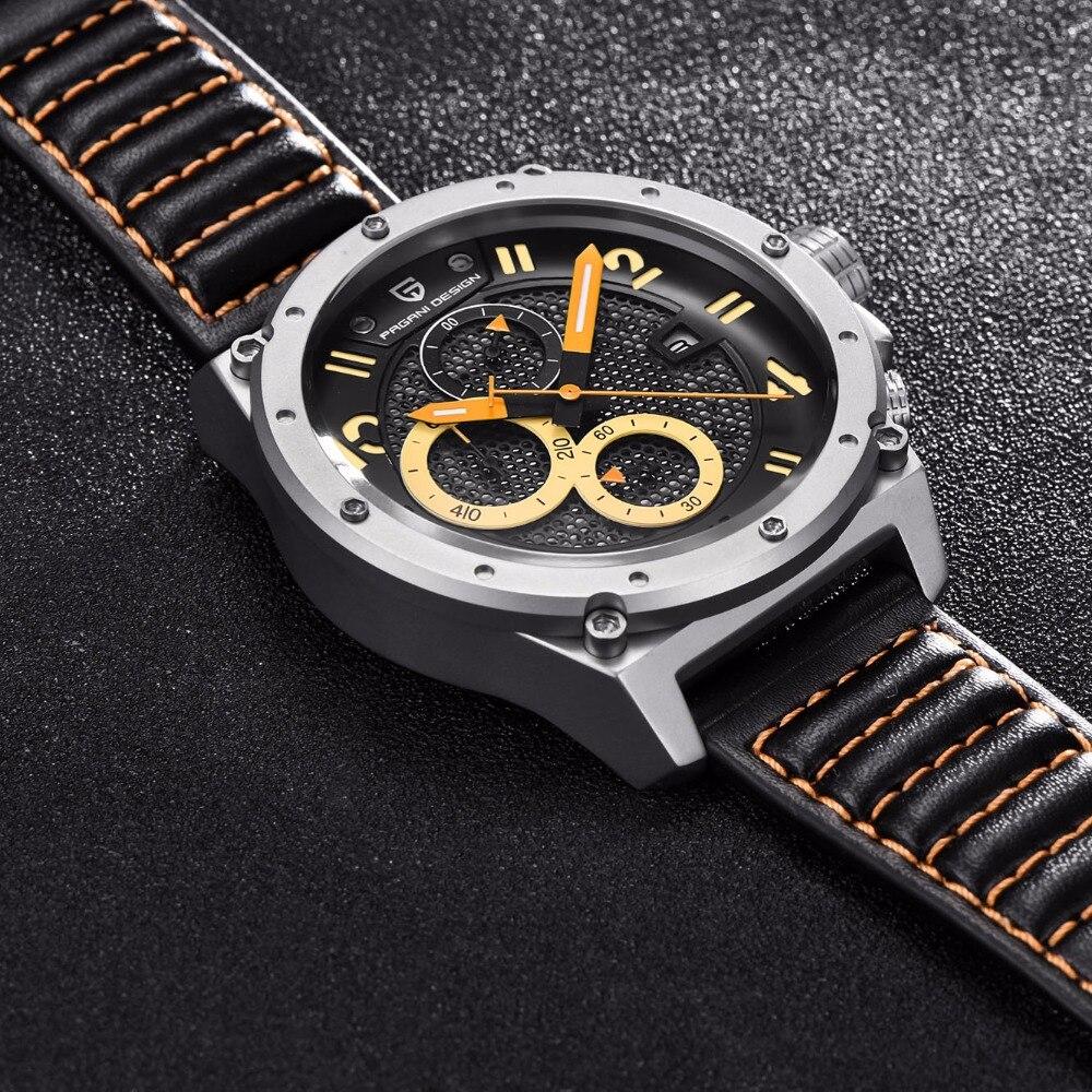 PAGANI DESIGN Sport montre hommes Top marque de luxe en plein air militaire chronographe Quartz armée montre mâle horloge Relogio Masculino Saat - 4