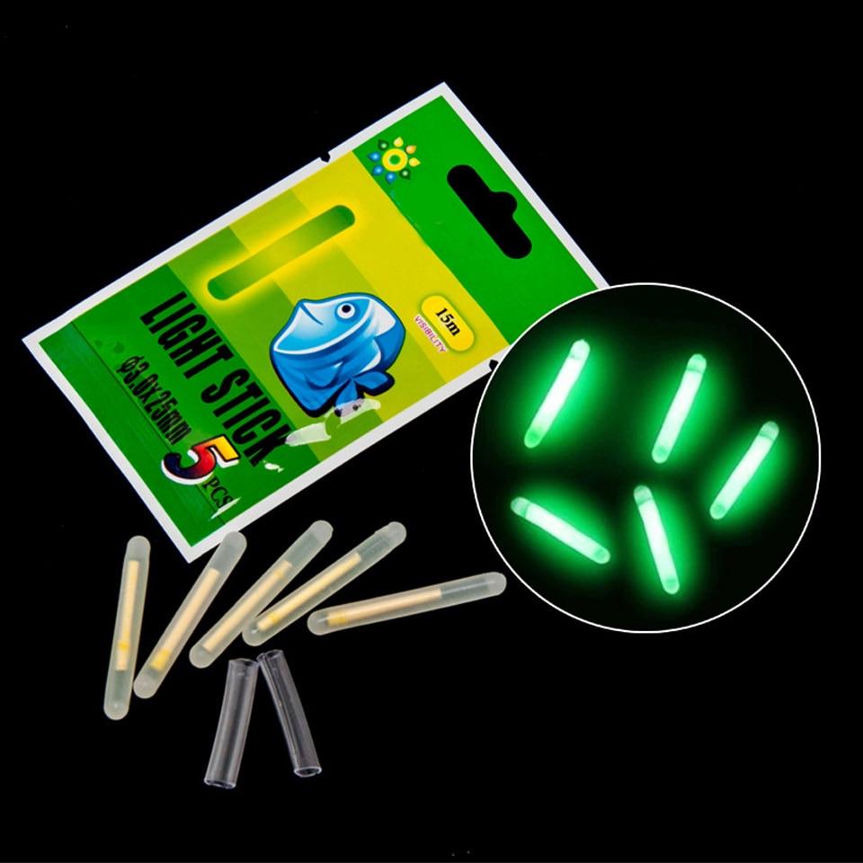 5pcs Fishing Float Light Stick Chemical Luminous Lights Powder Peche For Fishing Night Float Rod Lights Pesca