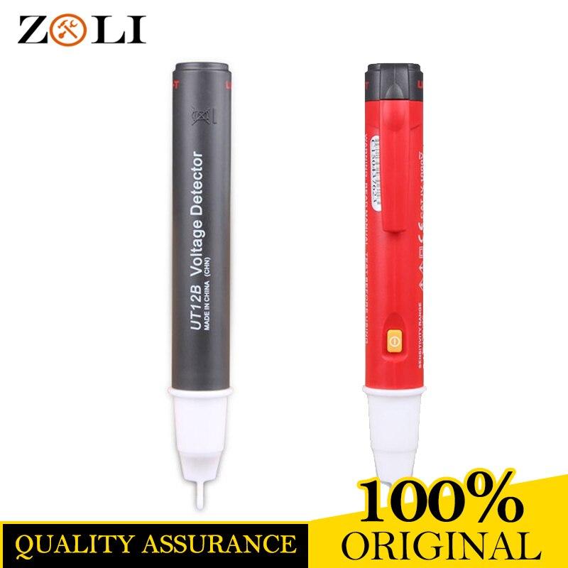 UT12B Non-Contact AC Voltage Detectors UT12B 90-1000 V Induction Test Pencil Volt Detectors Red LED Voltage Testers Voltmeter