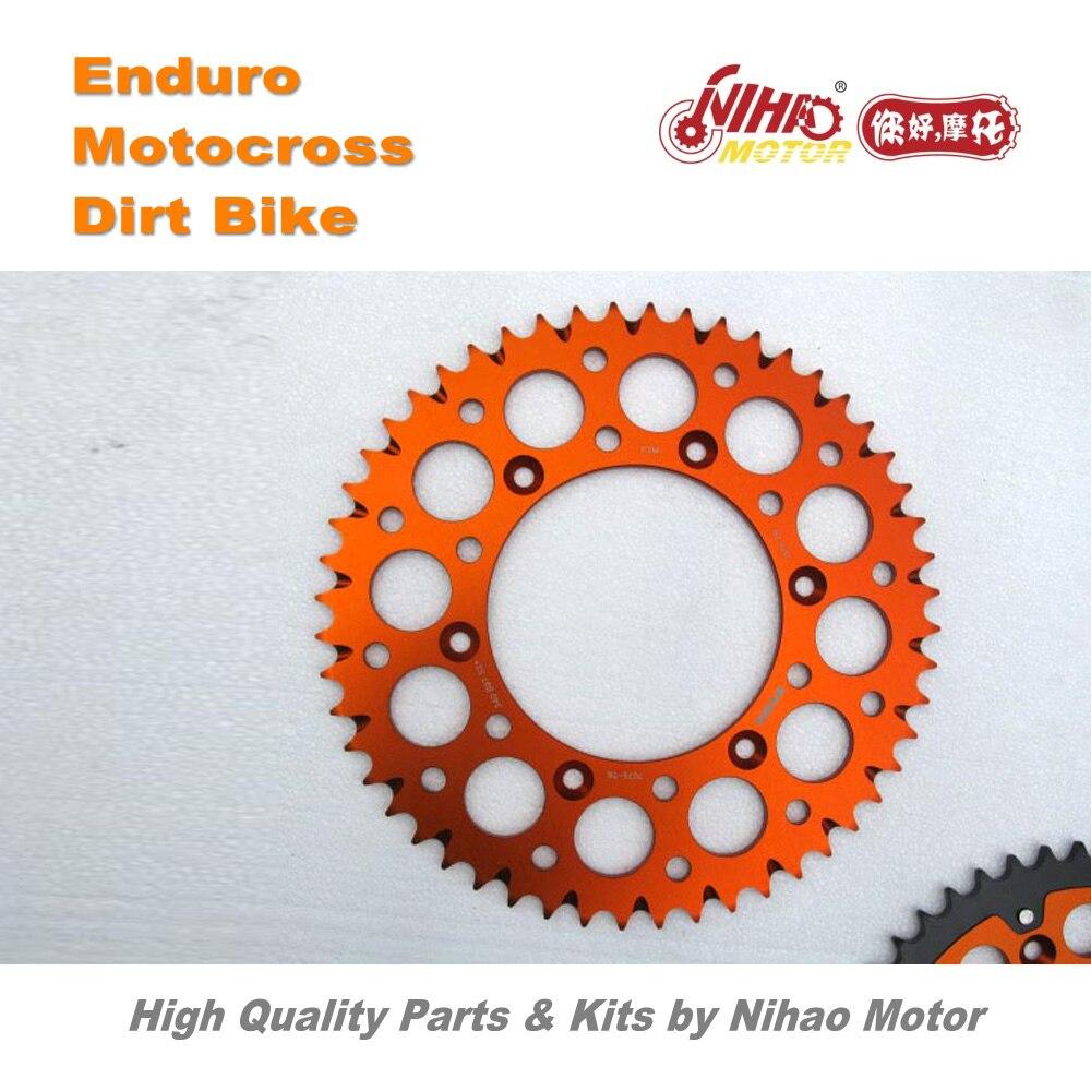 19 Motocross Parts 52T Rear Sprocket alloy 7075-T6 for Shinery X2 ZONGSHEN RX3 K16 K18 Enduro Kit Dirt bike spare cross