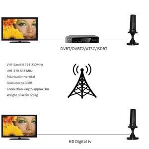 Image 4 - HIGH GAIN เสาอากาศทีวีสำหรับ DVBT2 HD Digital TV UHF 470 862 MHz เสาอากาศความยาว 3 Coaxial สายแม่เหล็กฐานเสาอากาศทีวี HDTV