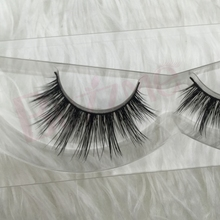 Free shipping long soft  style 2001 3D mink lashes 1pcs 100% real mink double layered thick lilly monaco charming lashes