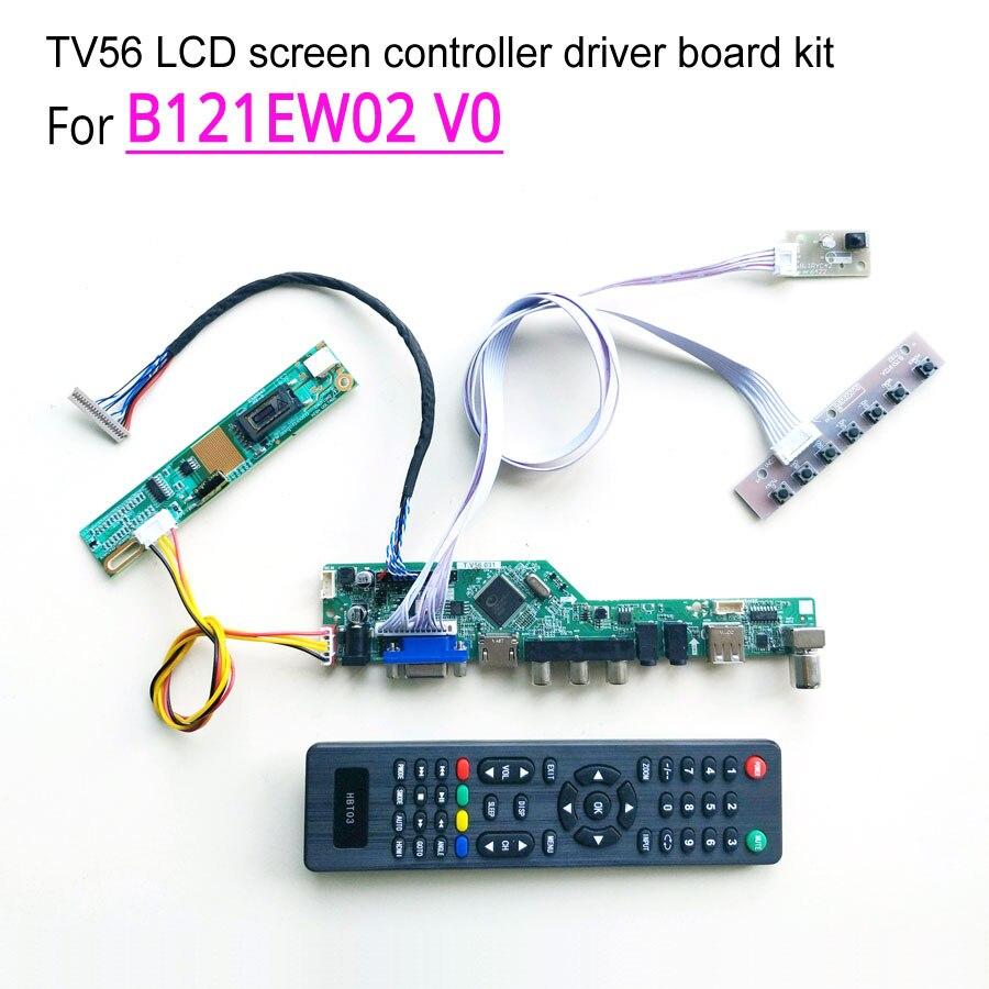 For B121EW02 V0 laptop LCD screen 20pin 1 lamp CCFL 1280 800 12 1 60Hz LVDS