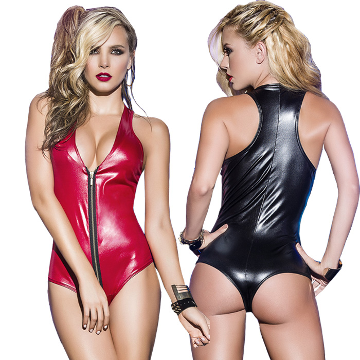 Buy Erotic Clubwear Bodysuit Women Sexy Latex Catsuit Fetish Body Sexy Lingerie Erotic Clubwear Stripper Pole Body Suits Women