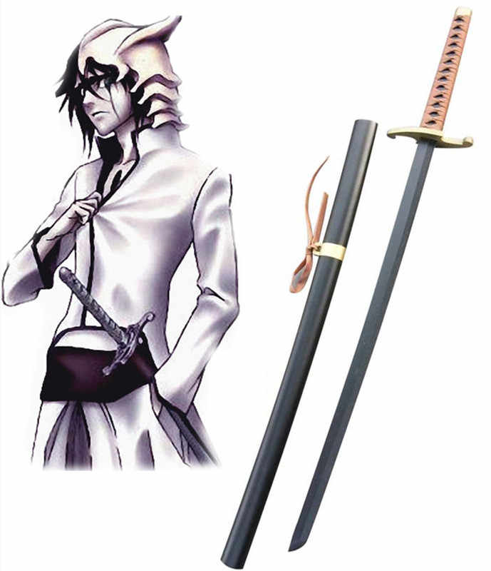 Fantasy Samurai Blade Replica Bleach Ulquiorra Cifer Cosplay Prop Wooden Weapons Sword Katana Decorative Cosplay Props No Sharp