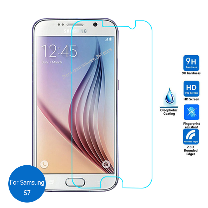 For Samsung GALAXY S7 Tempered Glass Screen Protector 2.5 9h safety Protective Film on S 7 SM G930 G930F SM-G930F G 930F