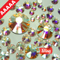 Tamaños de la mezcla AAAAA Calidad Superior Crystal Clear AB 1080 unids/bolsa Flatback Rhinestone Caliente Del Arreglo Más Brillante, Más Brigst hotfix piedras H0224