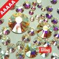 Tamanhos Mix AAAAA Top Quality Crystal Clear AB 1080 pçs/saco Flatback Strass Hot Fix Mais Brilhantes, Mais Brigst hotfix pedras H0224