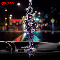 Crystal Swan Pendant Dream Monkey Car Swan Pendant Inlaid Diamond Pendant
