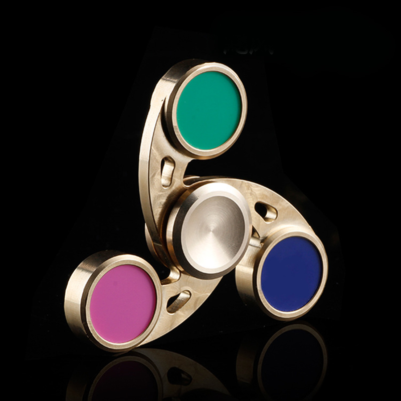 Cyclone Fidget Spinner Metal Tri-Spinner EDC Hand Finger Spinner Brass for Autism ADHD Kid Adult Focus Relief Stress Gift Toys fidget hand spinner brass metal edc finger spinner anti stress hand spinner for autism adhd toys gift spinning top
