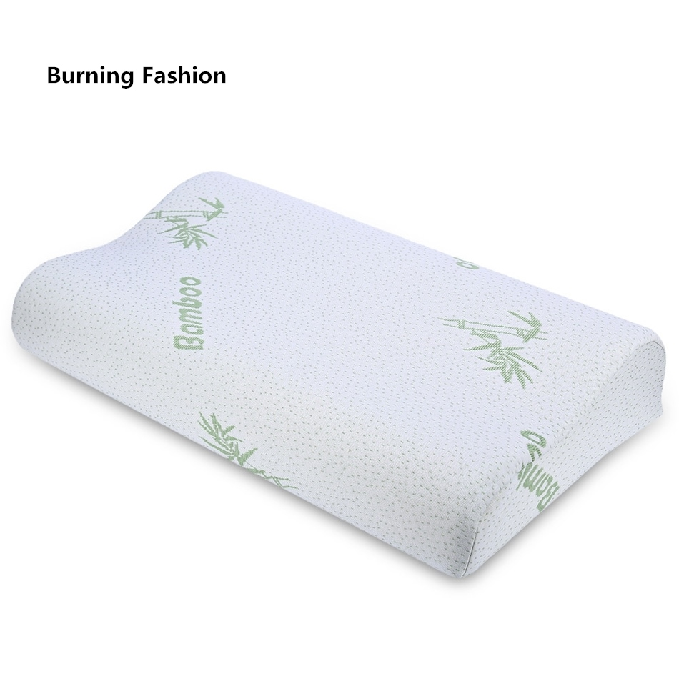 Burning Fashion 2018 bamboo fiber pillow slow rebound health memory foam fatigue ease