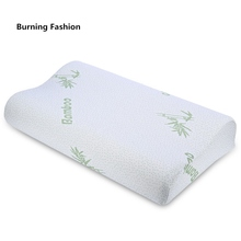 Burning Fashion 2018 bamboo fiber pillow slow rebound health memory foam fatigue ease