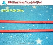 10 metros/lote 4 MM rojo termocontracción tubos termoretráctiles manga aisladora